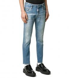 Dsquared2 Blue Skater Slim-Fit Jeans