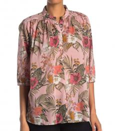 Peach Fleur Printed Shirt