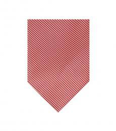 Calvin Klein Red Micro Hexagon Tie