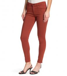 AG Adriano Goldschmied Sulfur Firebric Farrah High-Rise Skinny Jeans