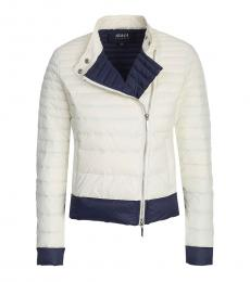 Armani Jeans Cream Zipper Jacket