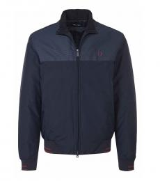 Fred Perry Dark Blue Colorblock Bomber Jacket