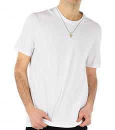 Neil Barrett White Slim Fit Sharktooth T-Shirt