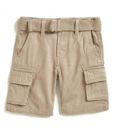 DKNY Little Boys Mouse Twill Belted Shorts