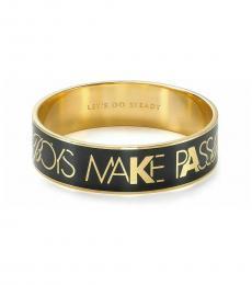 Kate Spade Black Idiom Bracelet