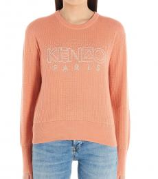 Pink Logo Embroidered Sweater