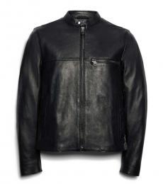 Coach Black Leather Racer Jacket