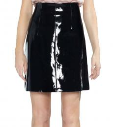 Vince Camuto Black Faux Patent Leather Skirt