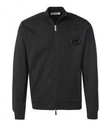 Bikkembergs Black Logo Shoulder Jacket