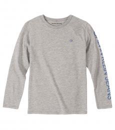 Calvin Klein Little Boys Grey Long Sleeve T-Shirt