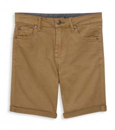Boys Khaki Classic Stretch Shorts