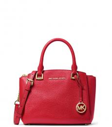 Michael Kors Bright Red Maxine Small Satchel