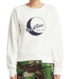 Rag And Bone White Logo Sweatshirt
