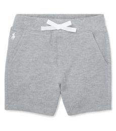 Ralph Lauren Baby Boys Andover Heather Pull-On Shorts