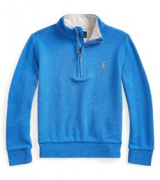 Little Boys Dockside Blue Quarter-Zip Pullover