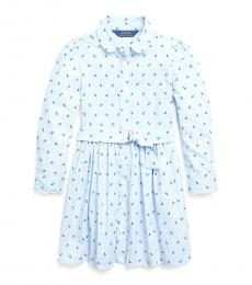 Ralph Lauren Little Girls Blue Anchor Shirtdress