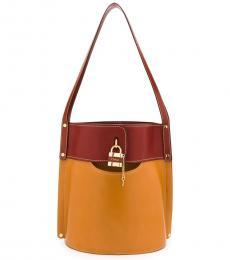 Chloe Brown Aby Large Bucket Bag