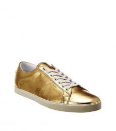 Celine Metallic Leather Sneakers