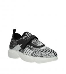 Prada Black White Velcro Closure Sneakers