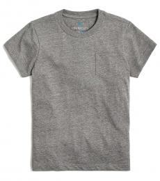 J.Crew Girls Grey Pocket T-Shirt
