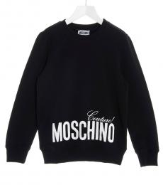 Moschino Boys Black Logo Sweatshirt