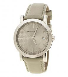 Burberry Beige Heritage Check Dial Watch