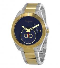Salvatore Ferragamo Silver Urban Blue Dial Watch