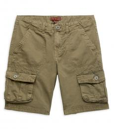 7 For All Mankind Boys Olive Cargo Shorts