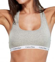 Calvin Klein Light Grey Two-Pack Carousel Logo Band Bralette