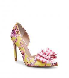 Betsey Johnson Yellow Multi Prince Heels