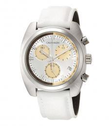 Calvin Klein White Achieve Watch