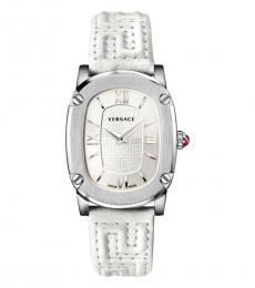 Versace White Logo Watch