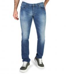 Emporio Armani Blue Back Logo Jeans