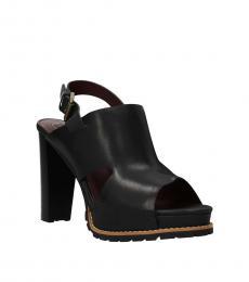 See by Chloe Black Slingback Leather Heels