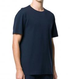 Michael Kors Navy Blue Logo Cotton T-Shirt