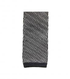 Tom Ford Black Knit Flat Bottom Tie