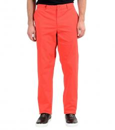 Versace Collection Red Stretch Casual Pants