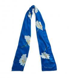 Ralph Lauren Blue Glacier Maria Floral Scarf
