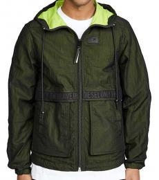 Dark Green Hooded Hisami Jacket