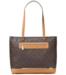 Michael Kors Brown Frame Out Large Tote