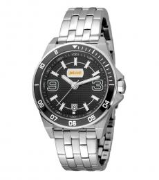 Just Cavalli Silver Date Luminous Watch