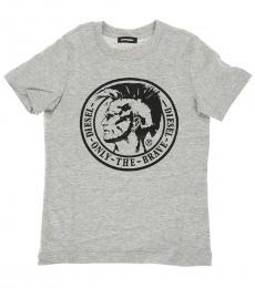 Diesel Little Boys Grey Printed T-Shirt