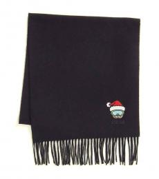 Moschino Black Holiday Teddy Scarf