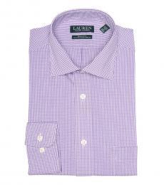 Ralph Lauren Light Purple Check Regular Fit Dress Shirt