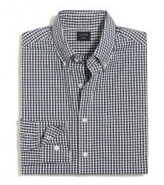 Navy Blue Slim Untucked Flex Shirt