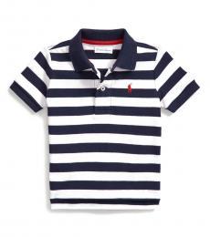 Ralph Lauren Baby Boys White Striped Polo