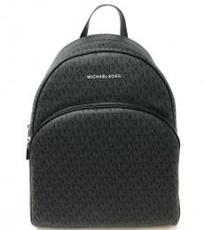 Michael Kors Black Abbey Signature Large Backpack