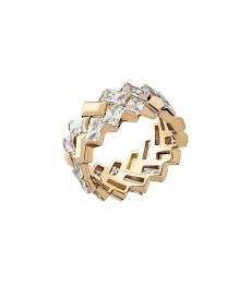 Gold Tie Affair Patchwork Ring