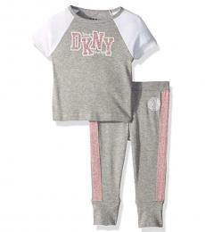 DKNY 2 Piece T-Shirt/Pajama Set (Girls)