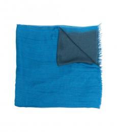 Emporio Armani China Blue Gradient Effect Scarf